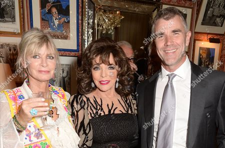Pandora Delevingne, Dame Joan Collins and Ivan Massow
