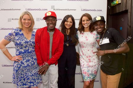 Reggie N Bollie with Kirsty McCabe Martine McCutcheon and Melanie Sykes