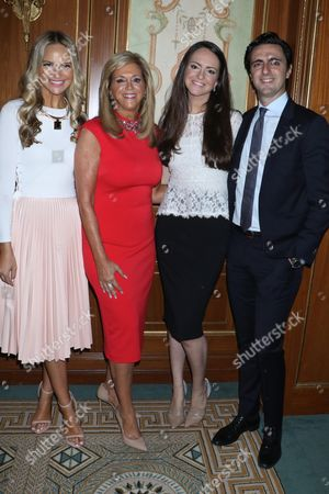 Stock Picture of Joy Mangano (C) with her daughters Jacqueline Miranne (L) and Christie Miranne (R) and son Robert Miranne