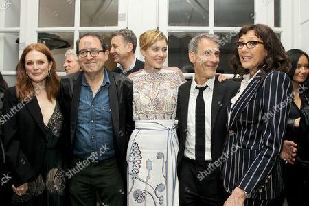 Julianne Moore, Michael Barker (Co-Pres SPC), Greta Gerwig, Michael Lynton