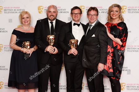 Stock Picture of Best Soap and Continuing Drama - Eastenders - Sharon Batten, Alexander Lamb, Dominic Treadwell-Collins, Adam Woodyatt and Laurie Brett