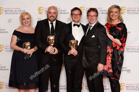 Stock Image of Best Soap and Continuing Drama - Eastenders - Sharon Batten, Alexander Lamb, Dominic Treadwell-Collins, Adam Woodyatt and Laurie Brett