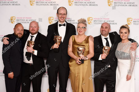 Editorial image of House of Fraser British Academy Television Awards, Press Room, Royal Festival Hall, London, Britain - 08 May 2016