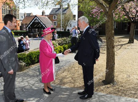 Queen Elizabeth II and Sir Robin Knox-Johnston at Berkhamsted School's 475th Anniversary celebrations