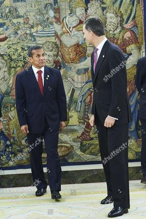 President of Peru Ollanta Humala and King Felipe VI of Spain