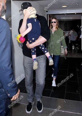 John Krasinski and Emily Blunt with daughter Hazel Krasinski