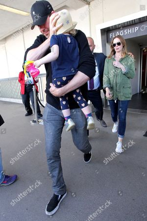 Editorial photo of Emily Blunt and John Krasinski at LAX International airport, Los Angeles, America - 06 May 2016