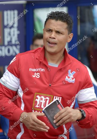 Stock Image of First team coach John Salako during the Barclays Premier League match between Crystal Palace and Stoke City played at Selhurst Park, London on May 7th 2016