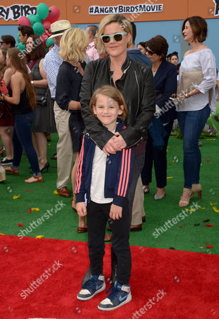 Kathleen Robertson and son William Robert Cowles