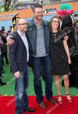 John Cohen, Blake Shelton and Catherine Winder