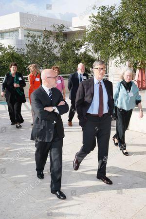 Jim Cuno, Bill Gates and Mimi Gardner Gates