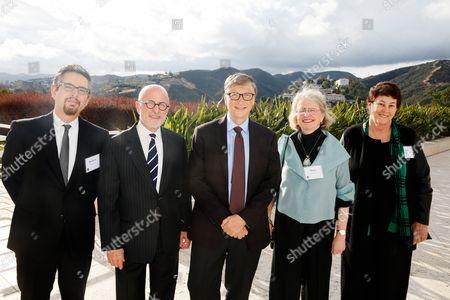 Andrew Perchuck, Jim Cuno, Bill Gates, Mimi Gardner Gates, Deborah Marrow