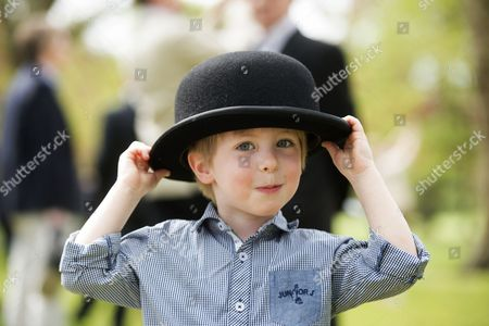 3 year old Charles Vines, who attended with his father Major Richard Vines of the Queens Royal Hussars