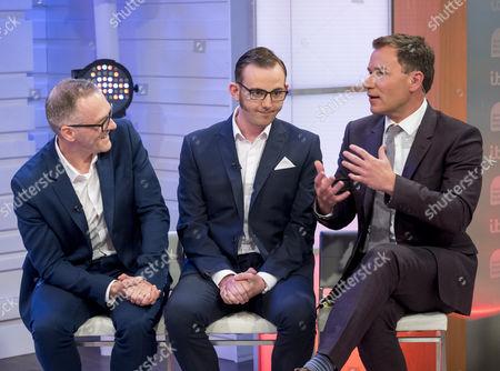 Alfie Joey and Cal Halbert with Richard Arnold