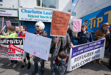 Editorial image of Bristol Defend the Asylum Seekers Campaign protest, Bristol, Britain - 29 Apr 2016