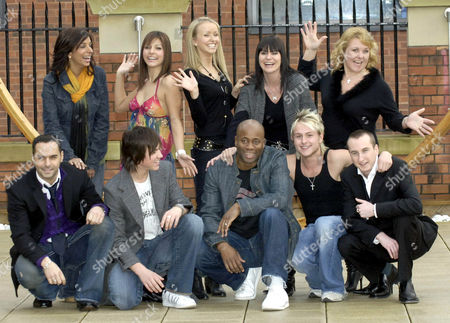 Back - Shobna Gulati, Roxanne Pallett, Sammy Winward, Lucy Pargeter and Wendi Peters. Front - Michael Greco, Richard Fleeshman, Nicholas Bailey, Lee Otway and Andy Whyment
