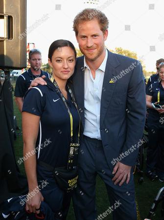 Prince Harry meets USA Invictus Team Member Elizabeth Marks