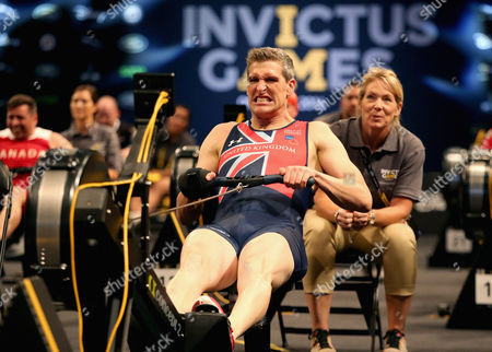 GB Armed Forces Team Captain David Wiseman competes in the rowing during the Invictus Games