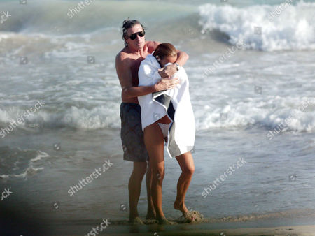 Roger Waters with wife Laurie Durning