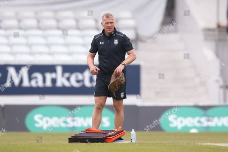 Alec Stewart during the Specsavers County Champ Div 1 match between Yorkshire County Cricket Club and Surrey County Cricket Club at Headingley Stadium, Headingley