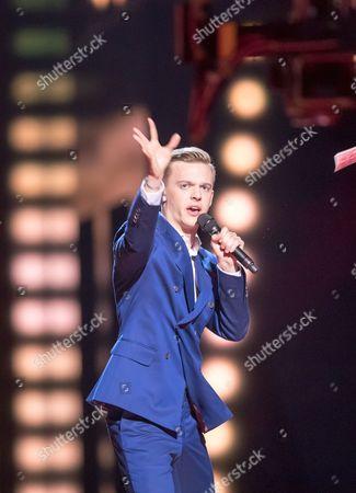 "Juri Pootsmann of Estonia performs his song ""Play"""