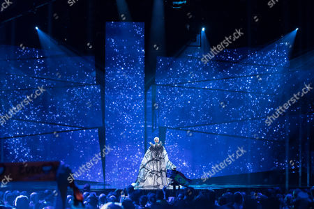 """Nina Kraljic of Croatia performs her song """"Lighthouse"""" at the first semi-final show of the Eurovision Song Contest 2016"""