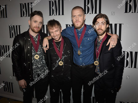 Ben McKee, Dan Reynolds and Daniel Wayne Sermon of Imagine Dragons