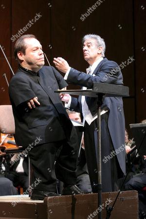 Thomas Quasthoff and Placido Domingo as a conductor