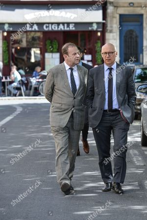 French photographer Francois Marie Banier and his lawyer Pierre Cornut Gentille
