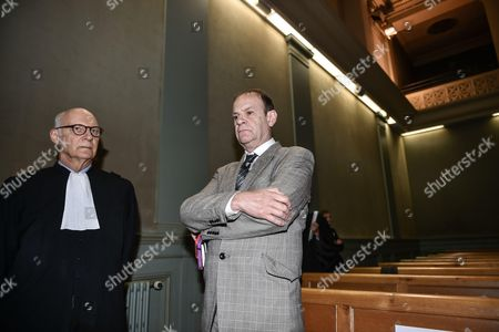 Stock Picture of French photographer Francois-Marie Banier and his lawyer Pierre Cornut-Gentille
