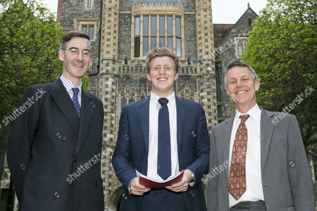 Stock Picture of Jacob Rees Mogg MP, Fred Dimbleby and former MP Matthew Parris