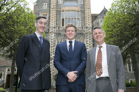 Jacob Rees Mogg MP, Fred Dimbleby and former MP Matthew Parris