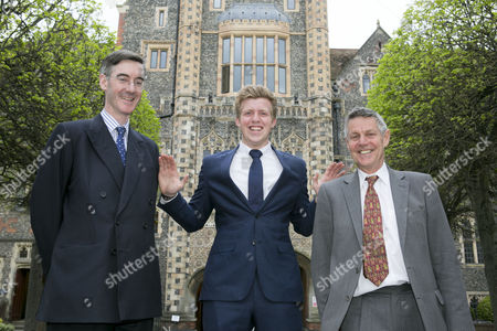 Stock Photo of Jacob Rees Mogg MP, Fred Dimbleby and former MP Matthew Parris