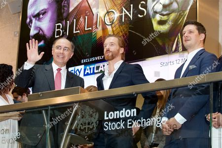 Editorial photo of Damian Lewis opens the London Stock Exchange to mark the premiere of Sky Atlantic's 'Billions' on Sky Box Sets, London, Britain - 11 May 2016