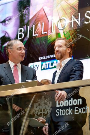 Editorial image of Damian Lewis opens the London Stock Exchange to mark the premiere of Sky Atlantic's 'Billions' on Sky Box Sets, London, Britain - 11 May 2016