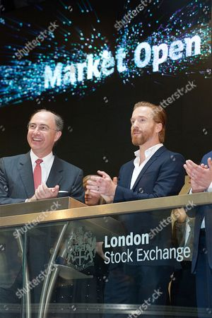 Damian Lewis with Xavier Rolet (CEO London Stock Exchange)
