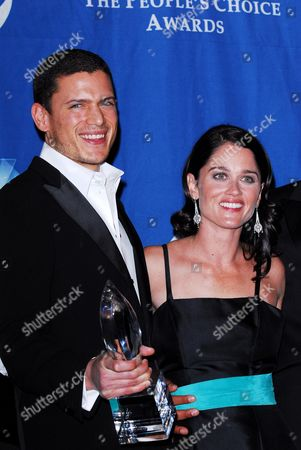 Stock Image of Wentworth Miller and Robin Tunney