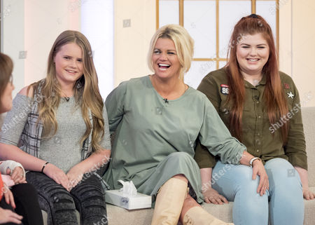 Kerry Katona with daughters Lily-Sue McFadden and Molly Marie McFadden