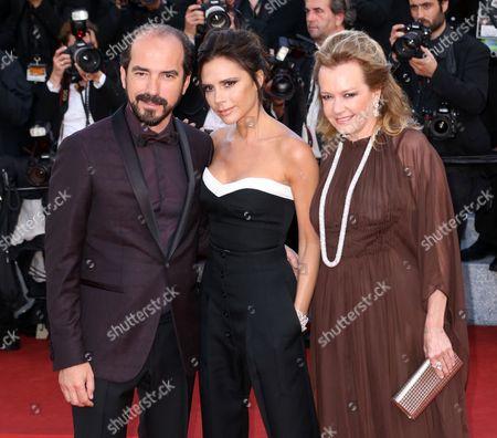 Victoria Beckham with Caroline Gruosi Scheufele