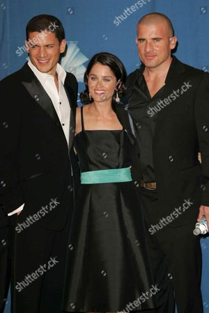 Stock Photo of Wentworth Miller, Robin Tunney and Dominic Purcell