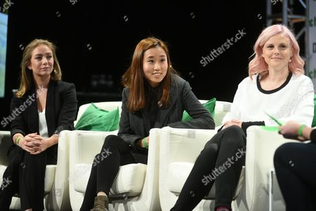 Whitney Wolfe (founder of Bumble), Dawoon Kang (founder of Coffee Meets Bagel), Robyn Exton (founder of Her)