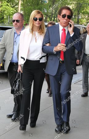 Editorial image of Andrea Hissom and Steve Wynn out and about, New York, America - 11 May 2016