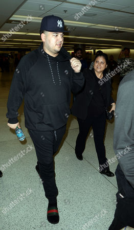 Editorial image of Blac Chyna and Rob Kardashian at Miami International Airport, America - 11 May 2016