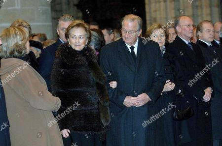 Editorial picture of THE BELGIAN ROYAL FAMILY ATTENDING A MASS IN HONOUR OF THE GRAND DUCHESS JOSEPHINE CHARLOTTE, BRUSSELS, BELGIUM - 10 JAN 2006