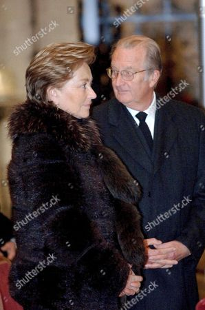 Stock Image of Queen Paola and King Albert II