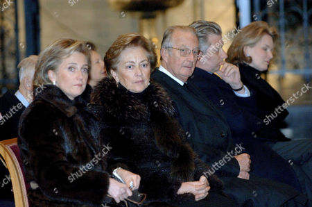 Editorial image of THE BELGIAN ROYAL FAMILY ATTENDING A MASS IN HONOUR OF THE GRAND DUCHESS JOSEPHINE CHARLOTTE, BRUSSELS, BELGIUM - 10 JAN 2006
