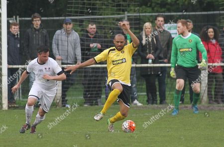 Stock Picture of Danny Gabbidon of Talk Sport All Stars in action