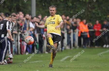 Dietmar Hamann of Talk Sport All Stars in action