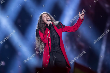 """Michal Szpak of Poland performs his song """"Color of Your Life"""" at the second semi-final show of the Eurovision Song Contest 2016 in Stockholm, Sweden on May 12, 2016"""