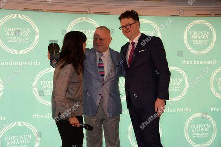 Claudia Winkleman, Richard Vines and Ewan Venters